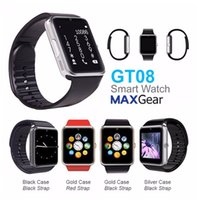 Wholesale Fashional GT08 smart watch inch TFT LCD touch screen smart watches GT08 bluetooth wristwatch for Android samsung sony iphone
