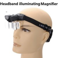 Cheap 2016 Time-limited Rushed Oem 9892c Led Illuminated Headband Magnifier with 5 Lens Head Visor Dental Loupes Surgical Magnifying Glass