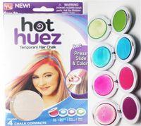 Wholesale 100set Hot Huez colors Dye hair powdery cake Temporary Hair Chalk Powder Craze Soft Pastels Salon Party DIY Hair Colors