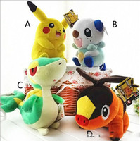 Wholesale 12 Inch Poke Pokémon Pikachu Plush dolls toys EMS cm style children Pikachu Charmander Jeni turtle Poke Ball Plush dolls toy