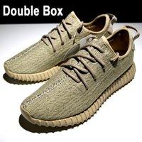 Wholesale Sale Kanye West Boost Running shoes white Fashion Sneaker Shoe RB PU sole size Send with Double Box Bag Socks Keychian