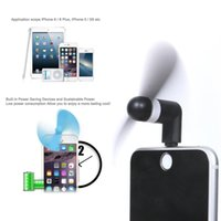 Wholesale Air Fan Flexible Portable Super Mute Cooler Hand held Cooling Phone Fans For iPhone s Plus Mini USB with Retail Package