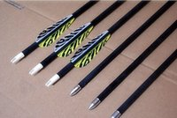 arrow tiger - LOONG carbon arrow quot tiger stripe TPU vane spine archery bow hunting shooting outdoor sport