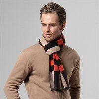 Wholesale Men s Scarf Luxury Brand Designer Classic Cashmere Scarf Winter Warm Soft Tassel Ethnic Shawl Wrap Scarf Men Scarves Cachecol