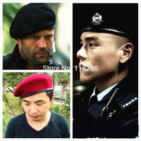 army beret - High Quality Soliders Stand Death Squads Military Training Camp Hat Caps For Women Men Classic Wool Beret