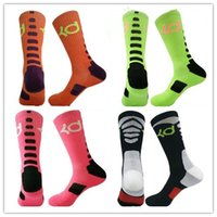 Wholesale candly color solid Elastic high quality cotton basketball big size sox Professional towel bottom knee sports men crew socks