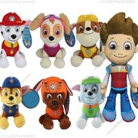 Wholesale 7Pcs Set Hot Kid Patrulla Canina Original Plush Toys cm And cm Patrol Puppy Patrulla Canina Anime Pup Toy For Children