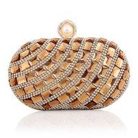 rhinestone purses - 17cm rhinestone chain beaded evening bags fashion lady glittering party bags purses diamond clutch handbags
