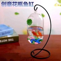 Wholesale Hanging hydroponic vases transparent European Romantic art tank Creative Glass home decorations ornaments