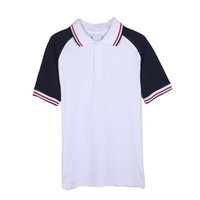 beautiful cotton products - 2016 New Products Men T Shirt Tide Short Sleeved Soft Cotton Leisure Lapel Patchwork Casual Comfortable Beautiful T shirt For Man