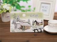 Wholesale New Year Cards Christmas cards Christmas gifts Eight design card Thanksgiving creative Christmas greeting CARDS
