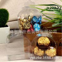 Wholesale Transparent box shaped pastry European West pumpkin cart box number P6
