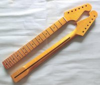 Wholesale 22 Fret Tiger flame Canadian maple Electric Guitar Neck Guitar Parts guitarra musical instruments accessories