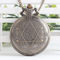 Wholesale Fullmetal Alchemist anime cosplay pocket watch necklace pendant