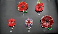 banquet gifts - 2016 New Enamel Red Poppy Brooches Flower Diamante Crystal Broach Banquet Badge Brooch Pin Breastpin Gift ZA0049