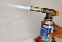 Wholesale BBQ Hiking Camping Gas Torch Fire Starter Maker Flame Gun Lighter One Gas Butane Burner Auto Ignition Weld Flame Gun KitZ00146