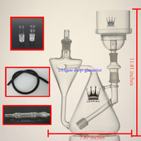 used tires - new glass hookah recycler shisha New design For use with two mini hookah tire perc