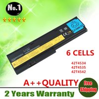 Wholesale New cells laptop battery FOR ThinkPad X200 X200S X201 X201IX201S Series42T4534 T4535 T4542 t4543