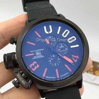 band hooks - Luxury Brand Men s Sports mm Big Case Rubber Band Automatic Mechanical U1001 Left Hook Hand Watch U White Dial Boat