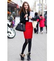 apparel career - Top Fashion Polyester xl Spring Summer Autumn New Fashion OL Career Apparel Skirt Suit Women Slim Package Hip Half length Big Yards
