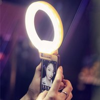 Wholesale ISF Charm Eyes Smartphone LED Ring Selfie Light Night Darkness Selfie Enhancing Photography for iPhone s Plus Samsung