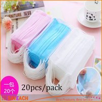 Wholesale 3 Layer Non Woven Dental Nail Medical Beauty Disposable Anti Virus Dust Proof Surgical Face Mask for Food Service Industry
