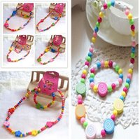 Wholesale Necklaces Princess Necklaces Girls Party Bag Loot Bag Fillers Party Toys Quick Korean Children Candy Colored Necklace Children s Jew