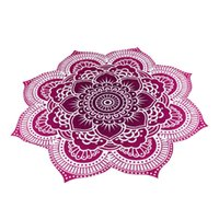 beach table cloth - Round Flower Mandala Tapestry Floral Beach Towel Hippie Gypsy Bohomian Throw Towel Table Cloth Cover Up For Bikini Swimsuit