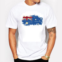 australia flag t shirts - 2016 New Summer Australia Flag Men T shirts Cotton Short Sleeve T shirts Nostalgia Australia Flag Style Fitness Tshirts