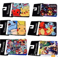 Wholesale Poke Wallets Poke Go wallets Pikachu Wallets Card Holder Poke Go Cartoon students wallets Poke Go Wallets DHL FREE D653