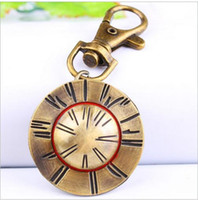 antique child hat - Hot sales Fashion lovely Luffy hat Flip clock watch Retro key buckle Gifts children pocket watches