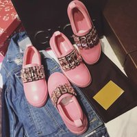 big pink diamond - Casual shoes fasion show item import big crystal diamond genuine leather vamp and inside TPU tread match all clothes suit four season