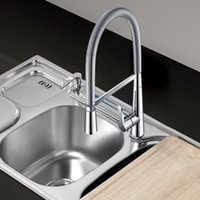 Wholesale pull down kitchen faucet cold and hot water mixer taps pull down rotation single handle