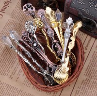 Wholesale Vintage Royal Style Carved Coffee Spoon Novelty Halloween Dinner Spoon Flatware Cutlery Set Mini Ice Cream Spoon Mixed Order
