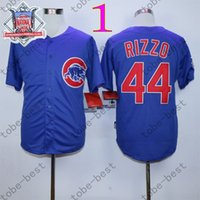 Wholesale Anthony Rizzo Jersey Cheap Chicago Cubs Baseball Jersey Stitched High Quality Beige Blue Gray Green White M XXXL
