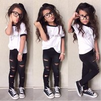 teen clothes - girls outfits Cute Baby baby photography outfits Outfits Tops Ripped Legging Trousers Outfits Clothes Set teen clothing