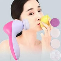 Wholesale Multifunction Electric Face Facial Cleansing Brush Spa Skin Care massage G00062 FSH