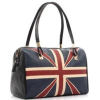 big bags uk - New Fashion Women s British Style Union Jack UK Flag Leather Handbag Shoulder Big Bagfor women Vintage Messenger Bag QT2030