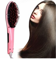 Wholesale Magic Digital LCD Display Hair Straightener fast dry detangling electric fast heating constant quality Hair Brush Styling Tool