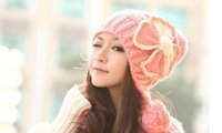 Wholesale 2016 new autumn and winter fashion wild surges cute wool hat knitted hat ear defender millinery outdoor warm ski cap