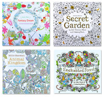 Wholesale 4 Design English Secret Garden An Inky Coloring Book Children Adult Relieve Stress Kill Time Graffiti Painting Drawing Book K7658