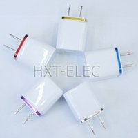 Wholesale 2100mA dual usb home charger A usb with colorful frame charge for iphone samsung smartphone with colors