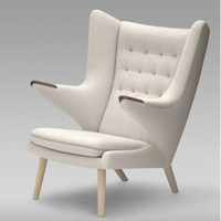 armchair chaise lounge - Modern Classic Furniture Teddy Bear Lounge Chair Indoor Factory Outlet Customize Linen armchair and ottoman High Quality chaise lounge chair