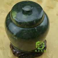 Wholesale Natural jade POTS handless small tea urn senior coffee cans natural green tea cylinder high grade coffee cup Can be dressed up wine