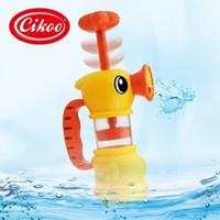Wholesale Cikoo pumping bath duck swimming bath Baby Toddler Toys Water Spray Pump cwf