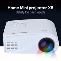Wholesale Excelvan X6 Mini Portable Projector Lumens Support P With HDMI USB AV VGA SD Interface Degree Flip Beamer
