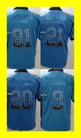 Wholesale 2016 Newest Drift Fashion johnson bush B sanders stafford blue Elite Football Jerseys Drop Shipping Top Quality Hot