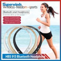 Wholesale For NOTE iPhone iPhone Plus HBS Bluetooth Headphones Wireless Stereo HBS Headsets Sport Stereo Earphones free DHL