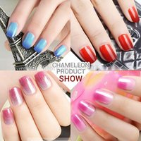 Wholesale 2016 new arrival brand Azure Temperature glitter gel Changing Color nail Gel Polish set lower price gel polish