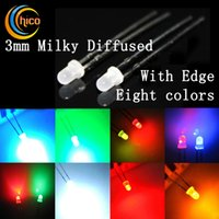 bi color - 3mm Super Bright Milky Diffused Mist Fog DIP LED Red Green Blue Yellow White Bi color